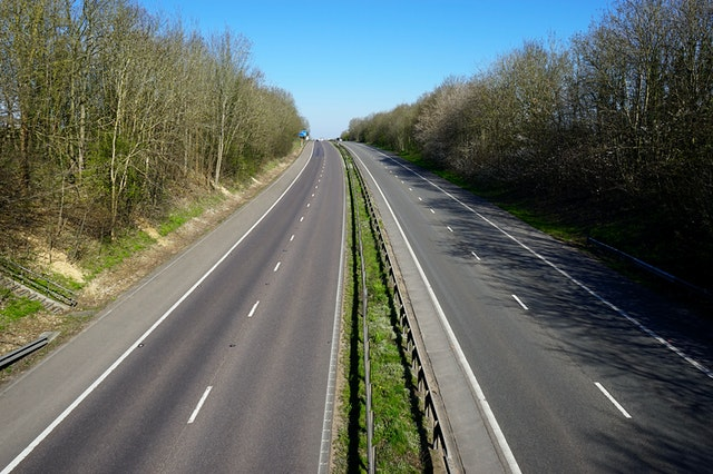 UK motorway road